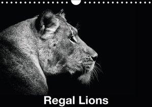 Regal Lions (Wall Calendar 2015 DIN A4 Landscape)