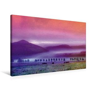 Premium Textil-Leinwand 75 cm x 50 cm quer Nebelland