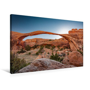 Premium Textil-Leinwand 75 cm x 50 cm quer Landscape Arch in Arc