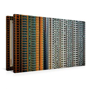 Premium Textil-Leinwand 90 cm x 60 cm quer Harbour Plaza