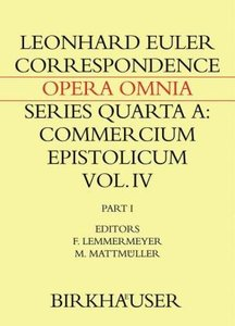 Correspondence of Leonhard Euler with Christian Goldbach 01