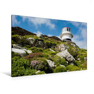 Premium Textil-Leinwand 120 cm x 80 cm quer Cape Point