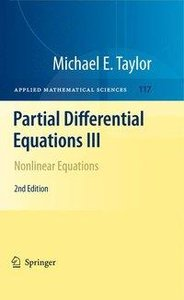 Partial Differential Equations III