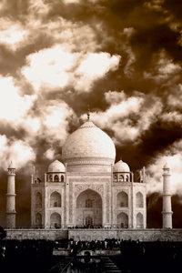 Premium Textil-Leinwand 50 cm x 75 cm hoch Taj Mahal Monument de