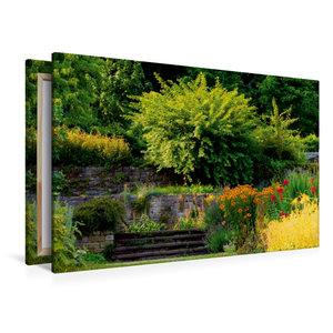Premium Textil-Leinwand 120 cm x 80 cm quer Sommerblüte