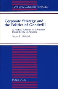 Corporate Strategy and the Politics of Goodwill