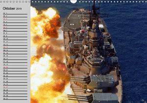 Kriegsschiffe der USA (Wandkalender 2019 DIN A3 quer)