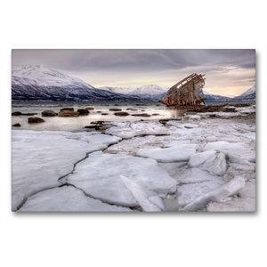 Premium Textil-Leinwand 90 cm x 60 cm quer Lost in Norway