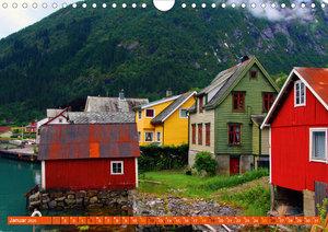 Fjærland - Norwegens Bücherstadt (Wandkalender 2020 DIN A4 quer)