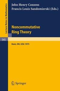 Noncommutative Ring Theory