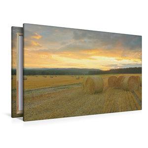 Premium Textil-Leinwand 120 cm x 80 cm quer Harmonie - Strohball
