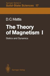 The Theory of Magnetism I