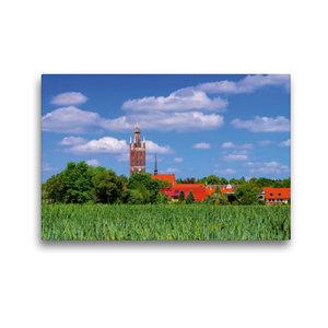 Premium Textil-Leinwand 45 cm x 30 cm quer Kirche St. Petri