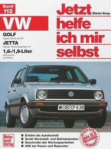 VW Golf ab August '83. VW Jetta ab Februar '84 1,6/1,8-Liter. Je