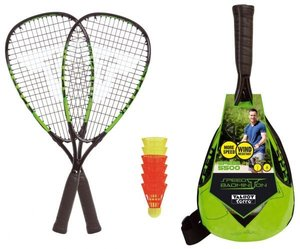 Talbot Torro 490115 - Speed-Badminton-Set SPEED 5500, 2 Alu-Rack