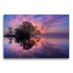 Premium Textil-Leinwand 75 cm x 50 cm quer Sonnenaufgang am groß