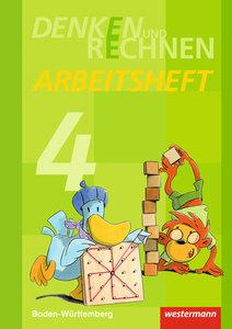 Denken und Rechnen 4. Arbeitsheft. Grundschulen. Baden-Württembe