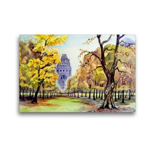 Premium Textil-Leinwand 45 cm x 30 cm quer Herbst am Völkerschla