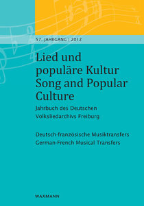 Lied und populäre Kultur - Song and Popular Culture 57 (2012)