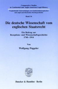 Die deutsche Wissenschaft vom englischen Staatsrecht