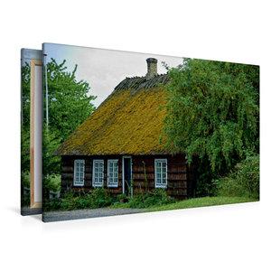 Premium Textil-Leinwand 120 cm x 80 cm quer Reethaus in Hesnæs