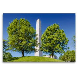 Premium Textil-Leinwand 120 cm x 80 cm quer BOSTON Bunker Hill M
