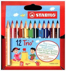 STABILO Trio, dick und kurz 12er Etui