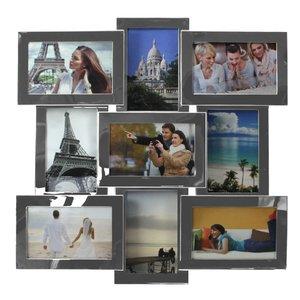 Fotorahmen Edelstahl/ Rahmen glänzend, für 9 Fotos
