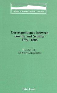 Correspondence between Goethe and Schiller 1794-1805