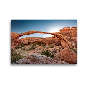 Premium Textil-Leinwand 45 cm x 30 cm quer Landscape Arch in Arc