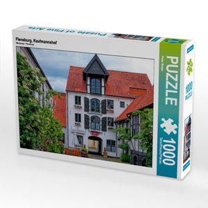 CALVENDO Puzzle Flensburg, Kaufmannshof 1000 Teile Lege-Größe 64