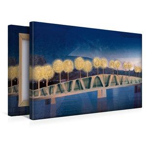 Premium Textil-Leinwand 45 cm x 30 cm quer Die Brücke