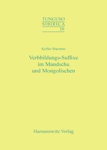 Verbbildungs-Suffixe im Mandschu und Mongolischen