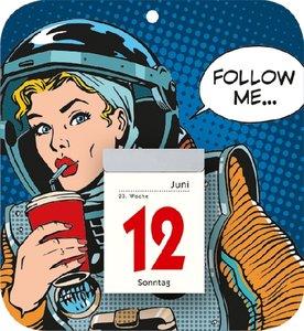 Retro-Rückwand mit Tagesabreißkalender 2016 Nr. 345-6100