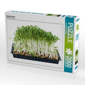 Grüne Kresse 2000 Teile Puzzle quer