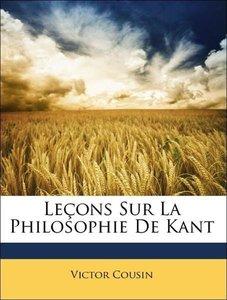 Leçons Sur La Philosophie De Kant