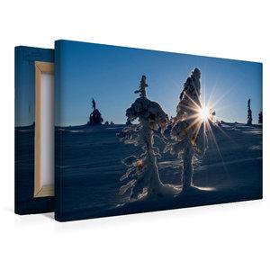 Premium Textil-Leinwand 45 cm x 30 cm quer Karelien - Finnland