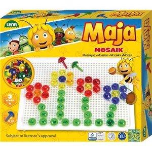 LENA® 35613 - Mosaik Set transp. Biene Maja 80, 15 mm, Bastelper