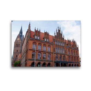 Premium Textil-Leinwand 45 cm x 30 cm quer Altes Rathaus vor der