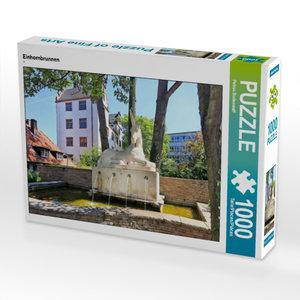 CALVENDO Puzzle Einhornbrunnen 1000 Teile Lege-Größe 64 x 48 cm