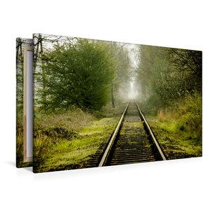 Premium Textil-Leinwand 120 cm x 80 cm quer Draisinenstrecke