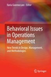 Behavioral Issues in Operations Management
