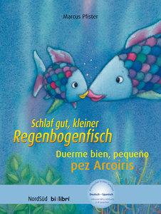 Schlaf gut, kleiner Regenbogenfisch, Deutsch-Spanisch. Duerme bi