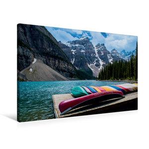 Premium Textil-Leinwand 90 cm x 60 cm quer Moraine Lake