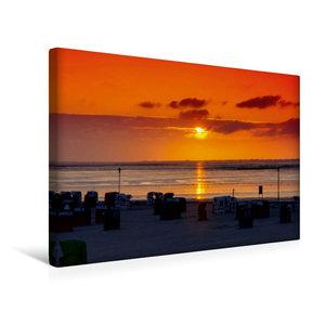 Premium Textil-Leinwand 45 cm x 30 cm quer Sonnenuntergang am St