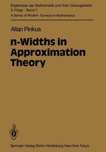 n-Widths in Approximation Theory