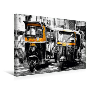 Premium Textil-Leinwand 45 cm x 30 cm quer Indien - Tuk Tuk