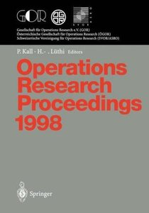 Operations Research Proceedings 1998