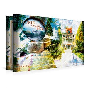 Premium Textil-Leinwand 90 cm x 60 cm quer home_sweet_home_1_1