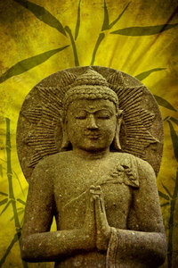 Premium Textil-Leinwand 80 cm x 120 cm hoch Buddha - Asien für